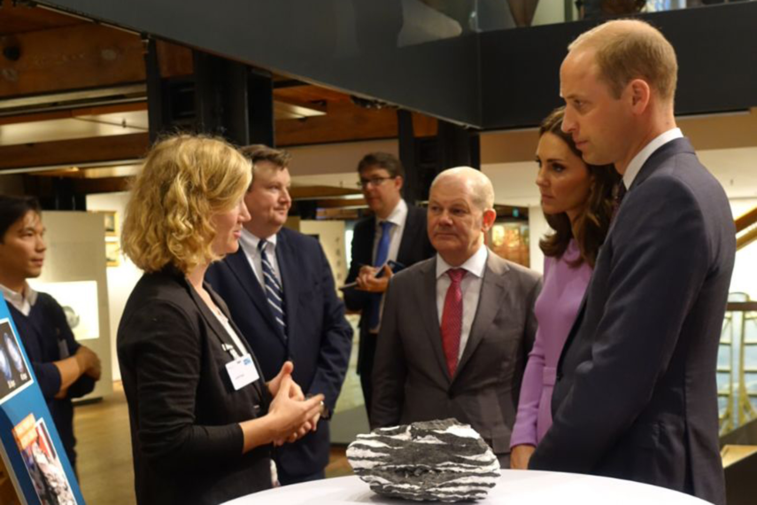 William and Kate met young researchers in Hamburg, Foto: Hannah Sehan, British Embassy